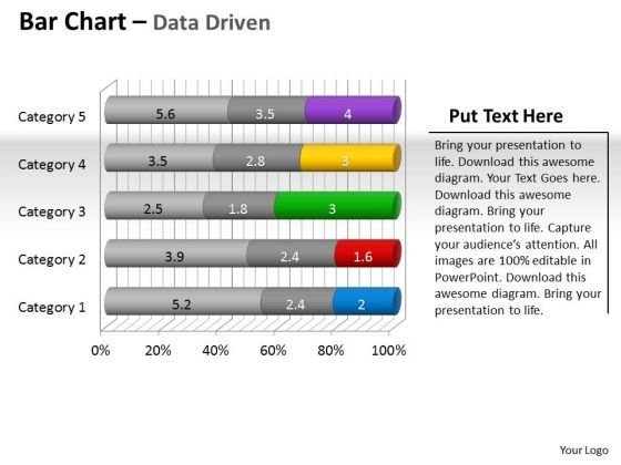 Data Analysis Programs 3d Bar Chart To Put Information PowerPoint Templates