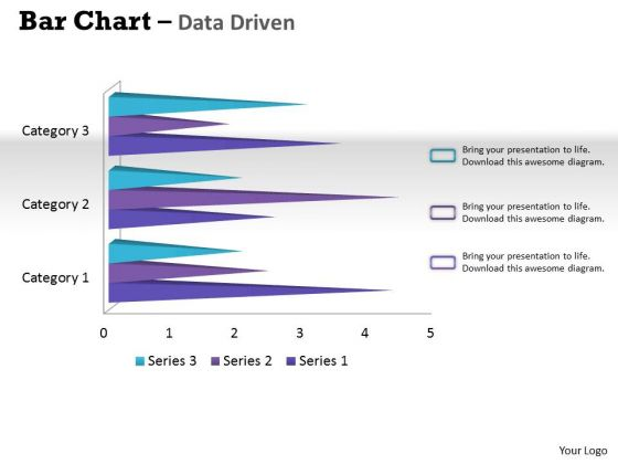 Data Analysis Techniques 3d Bar Chart For Financial Solutions PowerPoint Templates
