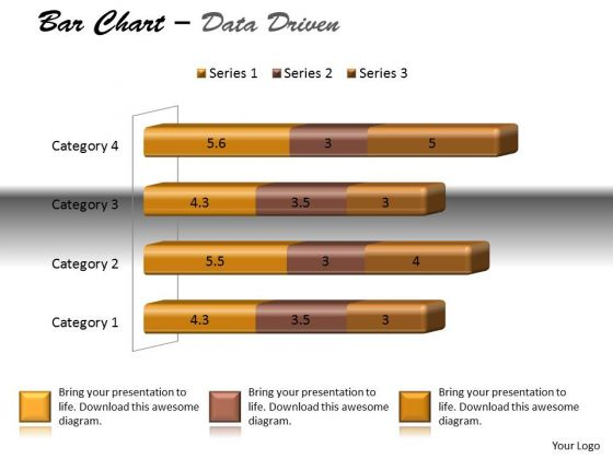 Data Analysis Techniques 3d Bar Chart For Modification PowerPoint Templates