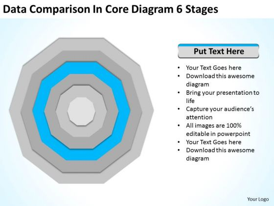 Data Comparison In Core Diagram 6 Stages Ppt Business Plans For PowerPoint Templates