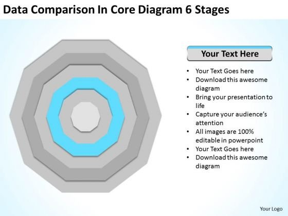 Data Comparison In Core Diagram 6 Stages Ppt Fitness Business Plan PowerPoint Templates