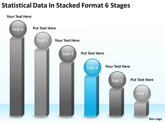 Data In Stacked Format 6 Stages Business Plan Small PowerPoint Templates
