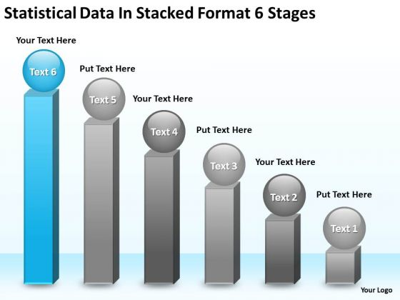 Data In Stacked Format 6 Stages Ppt Examples Of Small Business Plans PowerPoint Templates