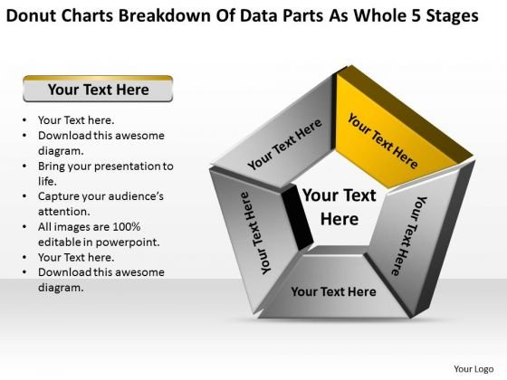 Data Parts As Whole 5 Stages Ppt Business Plan Template PowerPoint Templates