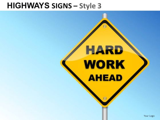 Decide Highways Signs 3 PowerPoint Slides And Ppt Diagram Templates
