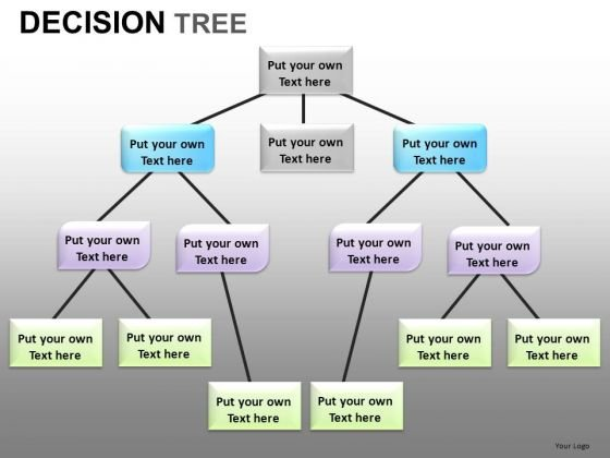 decision tree network diagram powerpoint templates - powerpoint, Powerpoint templates