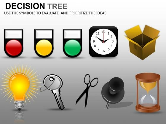 Decision Tree Nodes Icons PowerPoint Slides