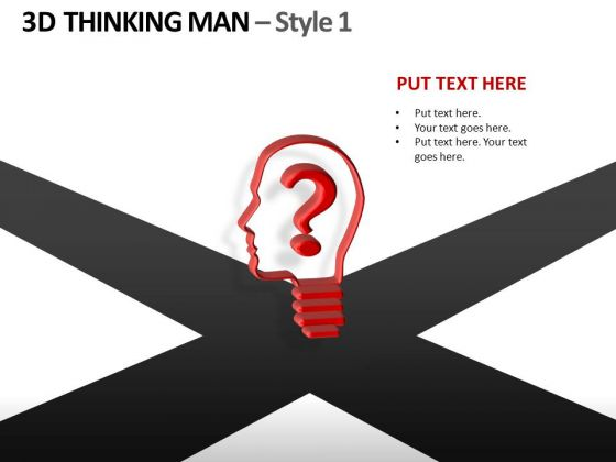 Decisions Crossroads Business Thinking Person PowerPoint Templates