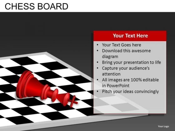 Defeated Chess PowerPoint Templates