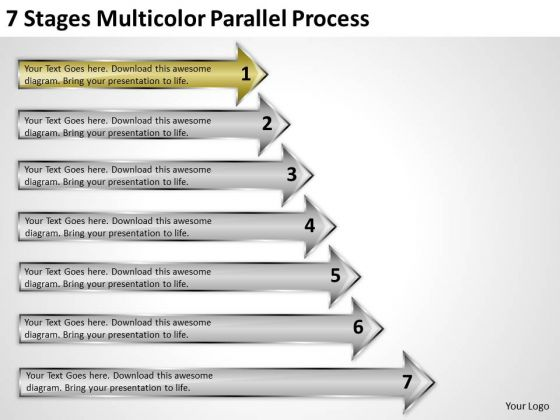 Define Parallel Processing 7 Stages Multicolor PowerPoint Slides