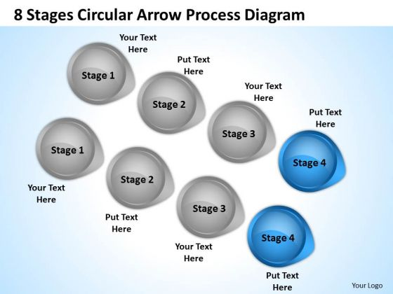 Define Parallel Processing 8 Stages Circular Arrow Diagram PowerPoint Slides