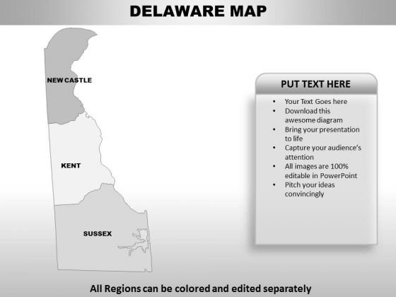 Delaware PowerPoint Maps