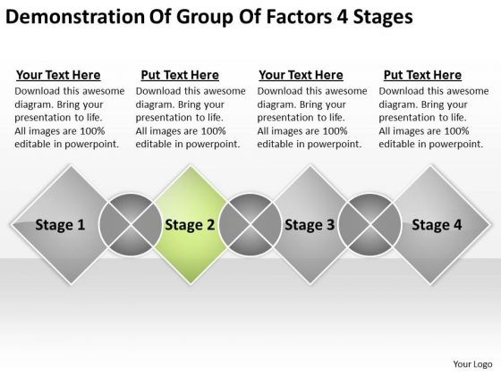 Demonstration Of Group Factors 4 Stages Market Plan Example PowerPoint Slides