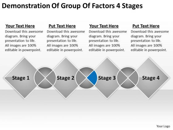 Demonstration Of Group Factors 4 Stages Ppt Creating Business Plan Free PowerPoint Slides