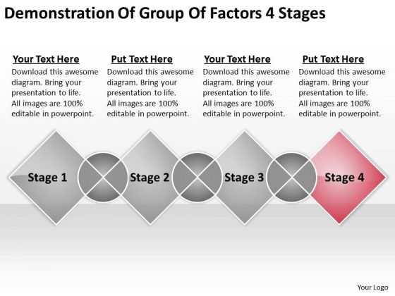 Demonstration Of Group Factors 4 Stages Ppt Model Business Plan PowerPoint Slides