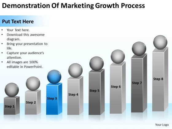 Demonstration Of Marketing Growth Process Ppt Best Business Plan PowerPoint Slides