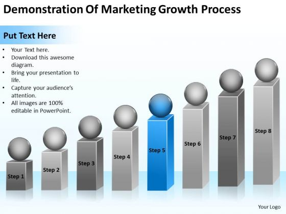 Demonstration Of Marketing Growth Process Ppt Business Plan PowerPoint Template