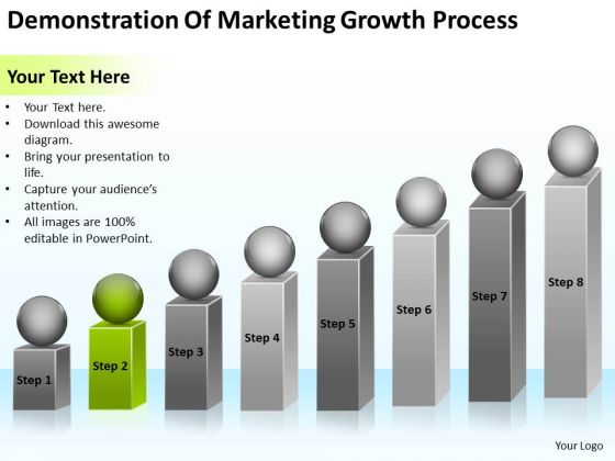 Demonstration Of Marketing Growth Process Ppt Business Plan PowerPoint Templates