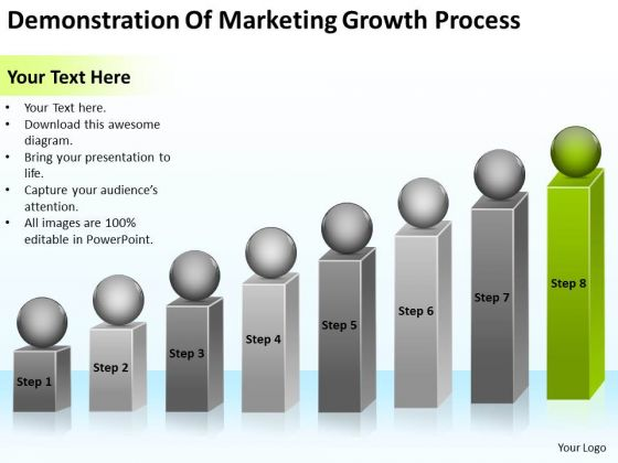 Demonstration Of Marketing Growth Process Ppt Business Plan Small PowerPoint Templates