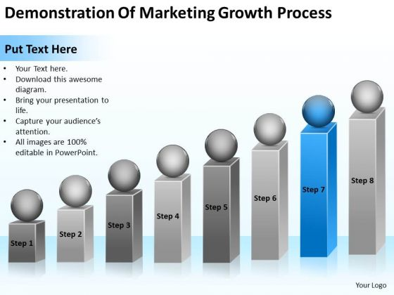 Demonstration Of Marketing Growth Process Ppt Business Plan Steps PowerPoint Templates