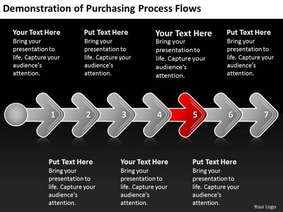 Demonstration Of Purchasing Process Flows Business Slides Chart PowerPoint