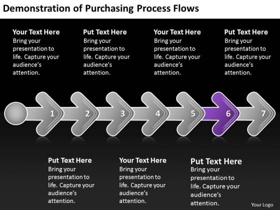 Demonstration Of Purchasing Process Flows Chart Slides Chart PowerPoint