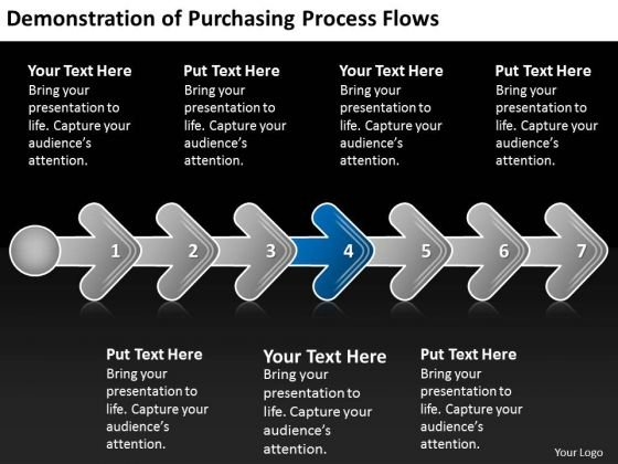 Demonstration Of Purchasing Process Flows Slides Chart PowerPoint