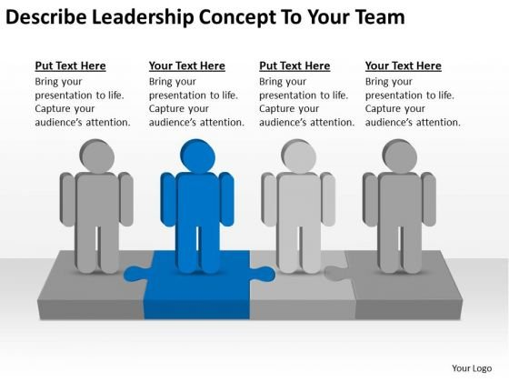 Describe Leadership Concept To Your Team Ppt Business Plan Writer Software PowerPoint Templates