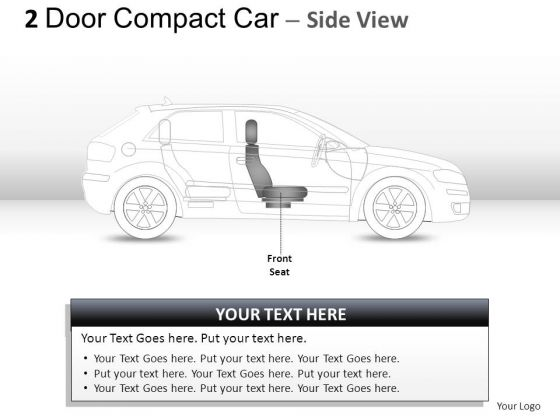 Design 2 Door Blue Car Side PowerPoint Slides And Ppt Diagram Templates