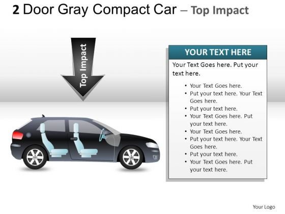 Design 2 Door Gray Car Side PowerPoint Slides And Ppt Diagram Templates