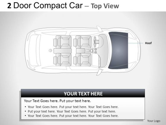 Design 2 Door Gray Car Top PowerPoint Slides And Ppt Diagram Templates