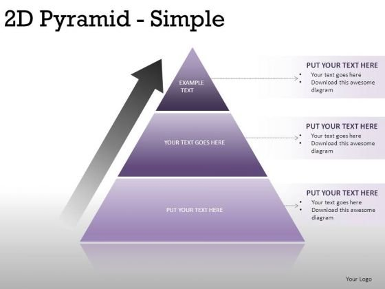 Design 2d Pyramid Simple PowerPoint Slides And Ppt Diagram Templates