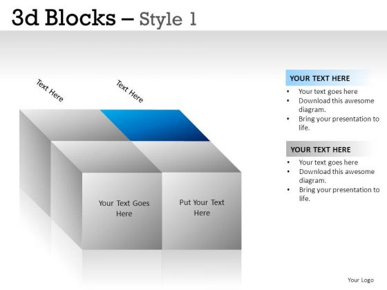 Design 3d Blocks 1 PowerPoint Slides And Ppt Diagram Templates