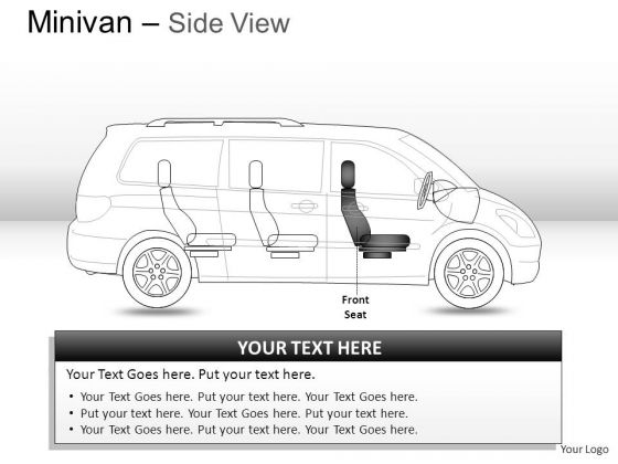 Design Green Minivan Side View PowerPoint Slides And Ppt Diagram Templates