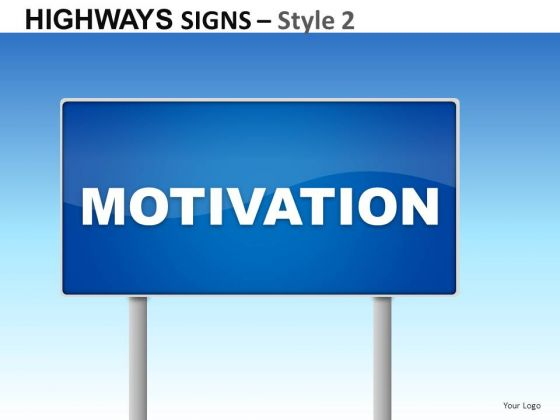 Design Highways Signs 2 PowerPoint Slides And Ppt Diagram Templates