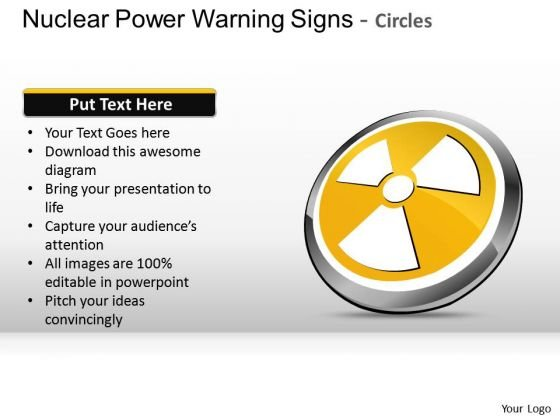 Design Nuclear Power Warning Signs Circles PowerPoint Slides And Ppt Diagram Templates