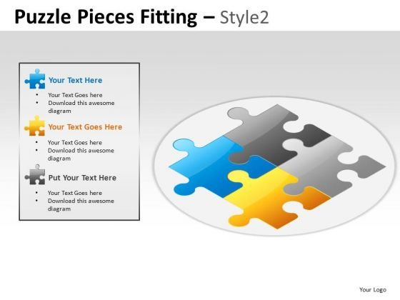 Design Puzzle Pieces Fitting PowerPoint Slides And Ppt Diagram Templates