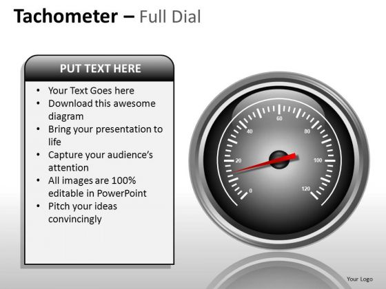 Design Tachometer Full Dial PowerPoint Slides And Ppt Diagram Templates