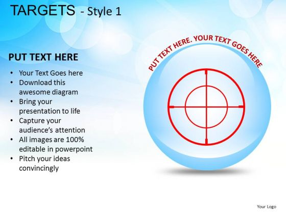 Design Targets 1 PowerPoint Slides And Ppt Diagram Templates