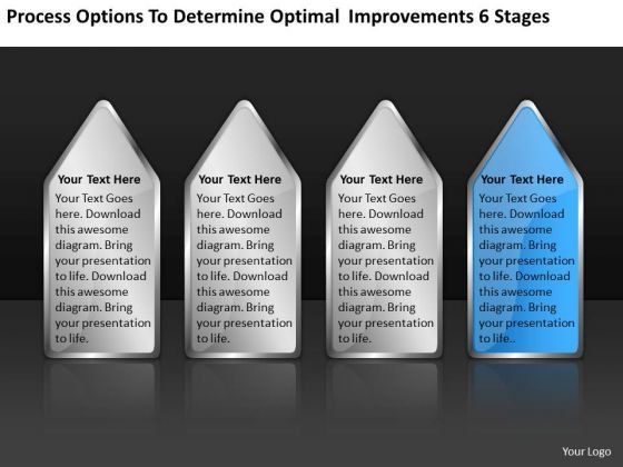 Determine Optimal Improvements 6 Stages E-commerce Business Plan PowerPoint Slides
