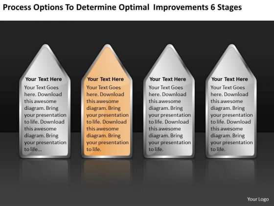 Determine Optimal Improvements 6 Stages Strategic Business Planning PowerPoint Slides