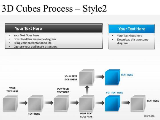 Develop 3d Cubes Process 2 PowerPoint Slides And Ppt Diagram Templates