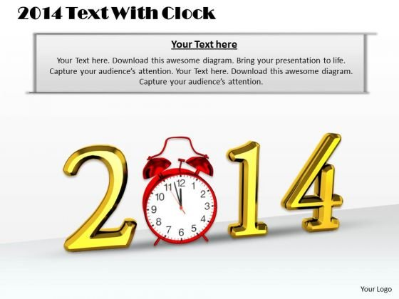 Develop Business Strategy 2014 Text With Clock Images Photos