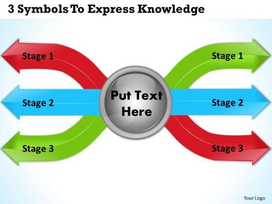 Develop Business Strategy 3 Symbols To Express Knowledge Project Management Ppt Slide