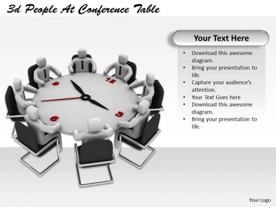 Develop Business Strategy 3d People Conference Table Basic Concepts
