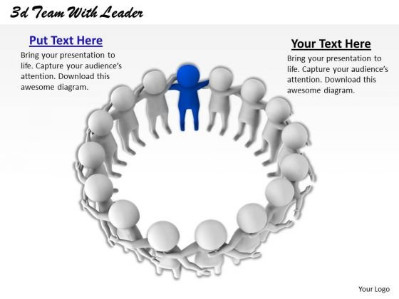 Develop Business Strategy 3d Team With Leader Characters
