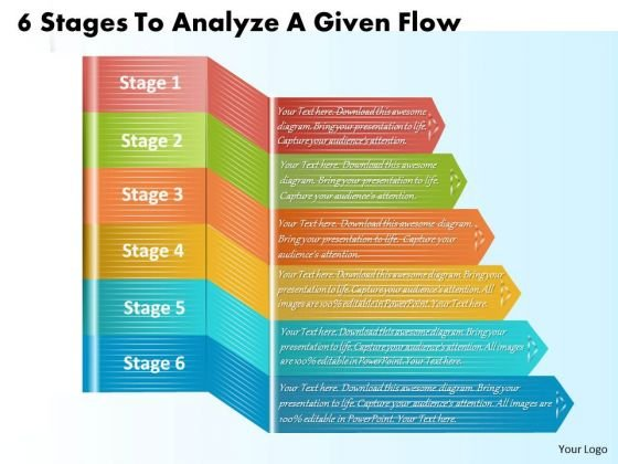 Develop Business Strategy 6 Stages To Analyze Given Flow Marketing Plan Ppt Slide