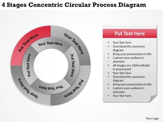 Develop Business Strategy Concentric Circular Process Diagram Ppt Marketing