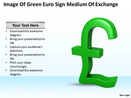 Develop Business Strategy Image Of Green Euro Sign Medium Exchange Stock Photos
