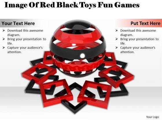 Develop Business Strategy Image Of Red Black Toys Fun Games Stock Photos